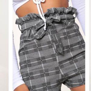 Pants - CHECKERED PAPER BAG SHORTS